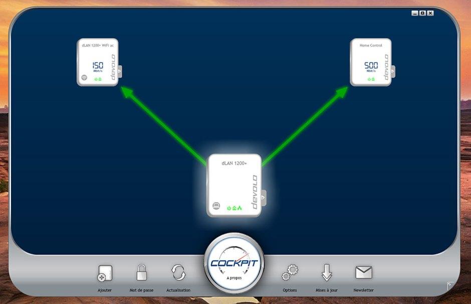 Le logiciel Devolo Cockpit permet de gérer son nouveau réseau domestique.
