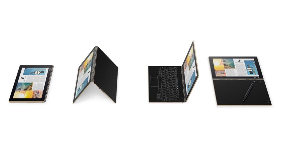 Le YogaBook de Lenovo ne pèse que 690 grammes et possède deux caméras et un GPS...