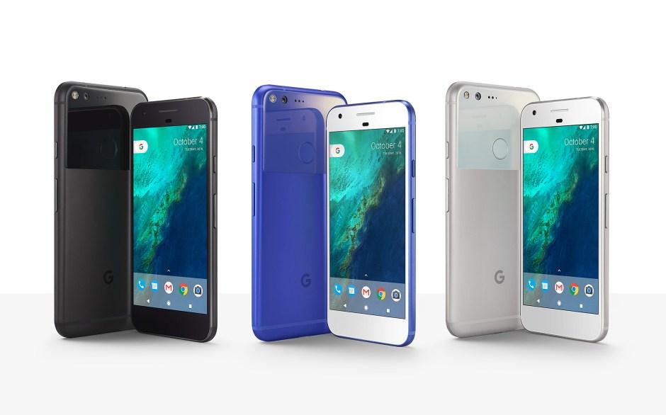 """Un smartphone Pixel, """"Phone by Google"""". Premier appareil à avoir bénéficié de l'assistant personnel du géant de l'internet."""