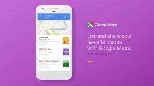 Google Maps toujours plus fort avec des listes de lieux à partager!