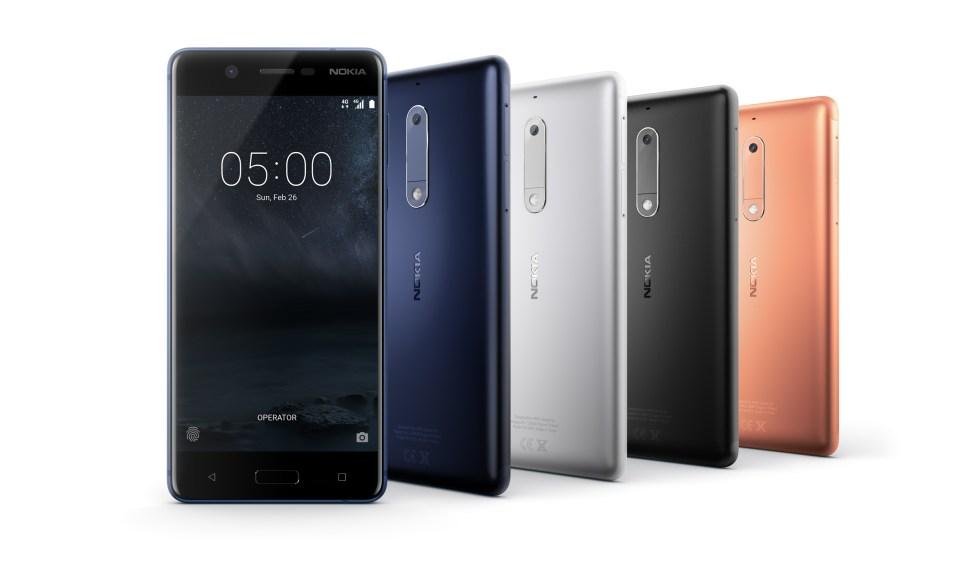 Nokia 5 en aluminium: écran de 5,2 pouces, Android 7.1.1 à 189 euros.