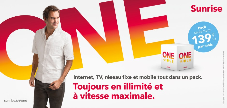 Vous pouvez avoir confiance en Federer, Sunrise One est véritablement l'une des meilleures offres du marché pour combiner mobile, internet, fixe et TV.