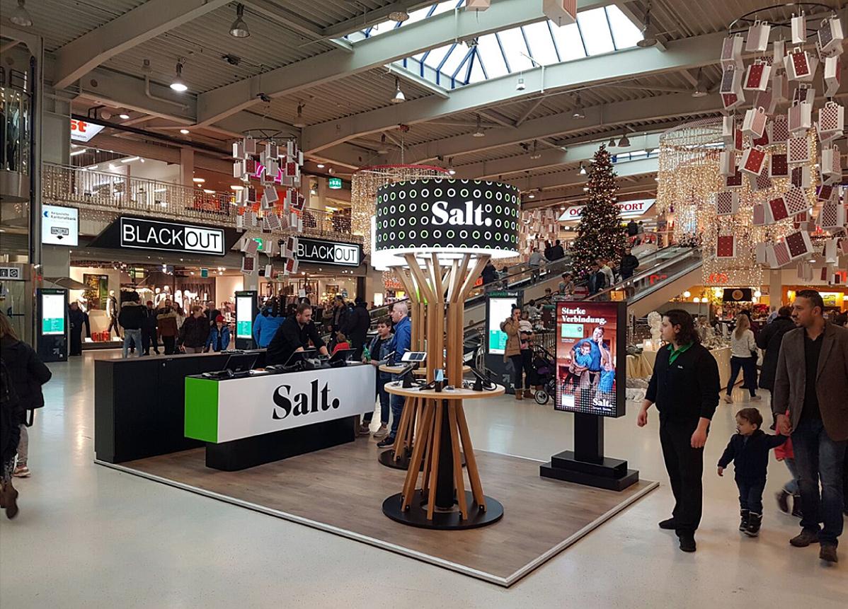 Un magasin Salt à Zurich sur la Bahnhostrasse.