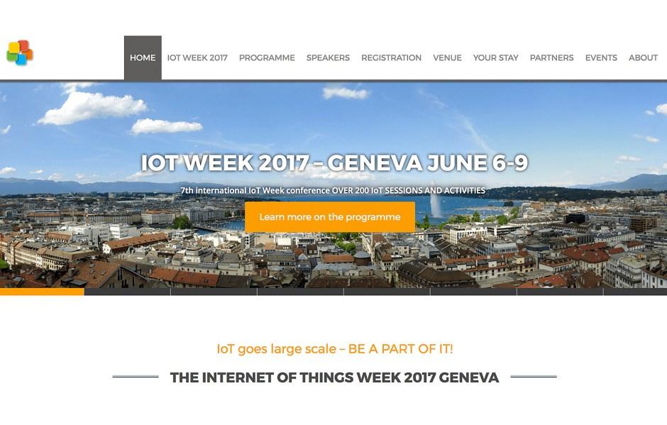 Genève accueillera du 6 au 9 juin, l'IoT Week 2017.