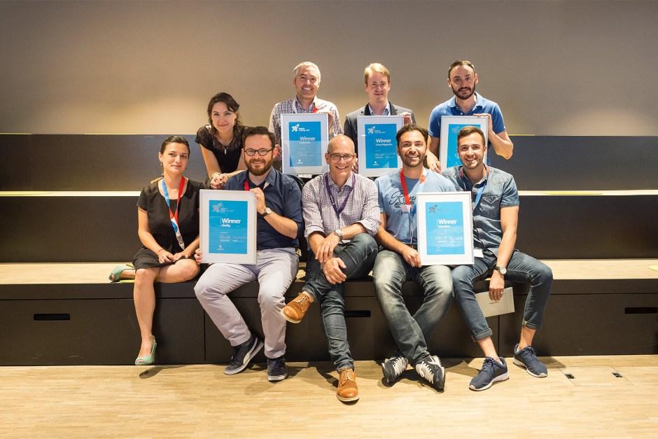 Les vainqueurs du Swisscom StartUp Challenge 2017.