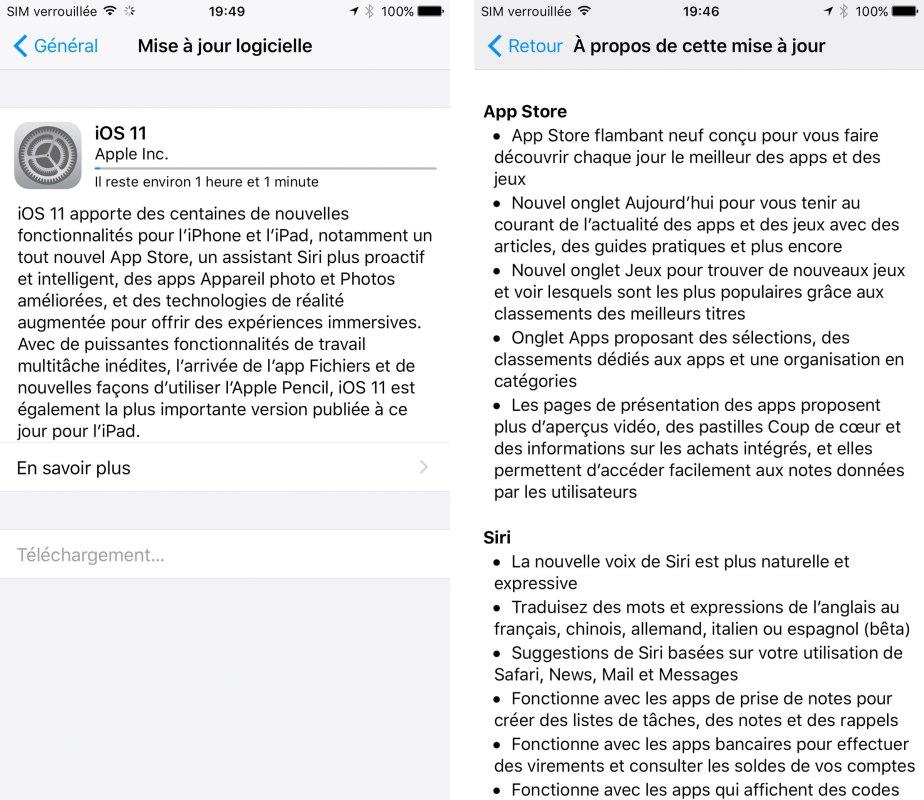 iOS 11 débarque. L'iPhone d'Apple reste le smartphone numéro un en Suisse.