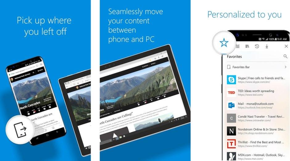 A côté de dizaines d'autres navigateurs, Microsoft lance Edge sur Android de Google et iOS d'Apple.