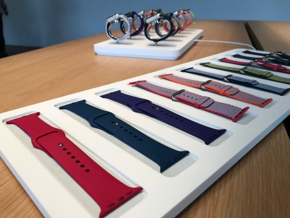 Les bracelets des nouvelles Apple Watch series 3 GPS + Cellular.