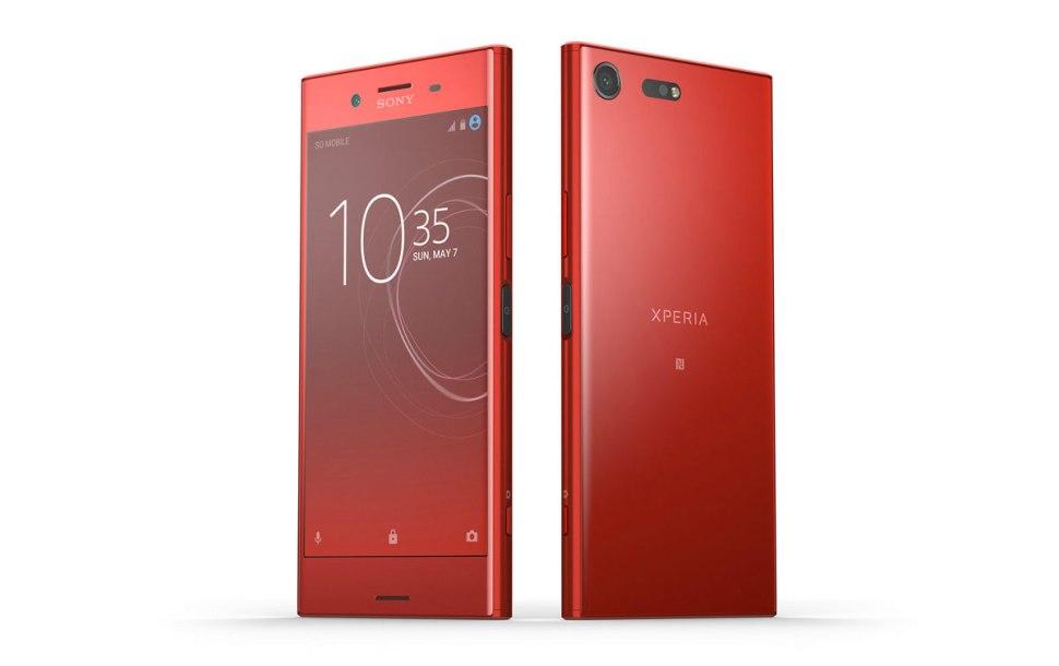 Le Sony Xperia XZ Premium arrive en rouge sous Android 8.0 Oreo.