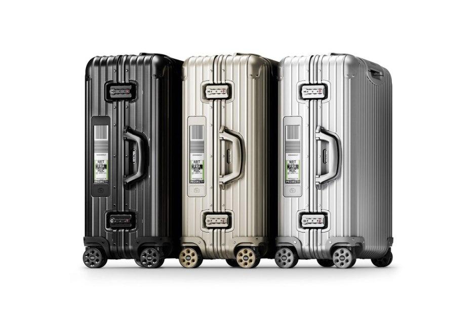 Rimowa mise sur une technologie directement intégrée dans certains modèles de ses valises.