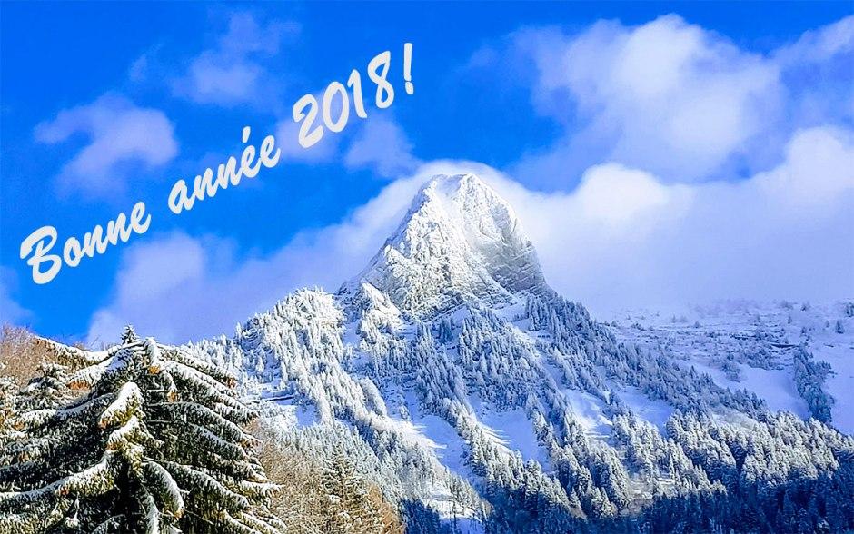 Meilleurs vœux et bonne et heureuse année high-tech 2018!