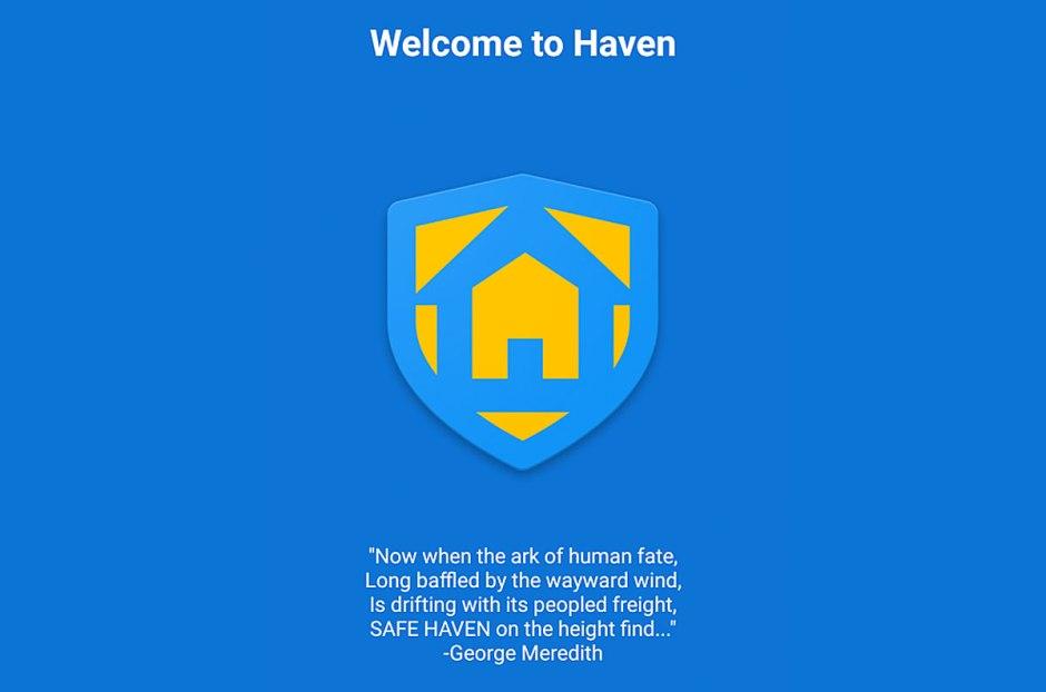 Haven: une application pour protéger votre vie privée.