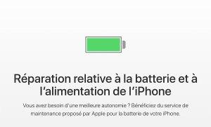 Apple change la batterie de votre iPhone 6 et suivants pour 29 francs!