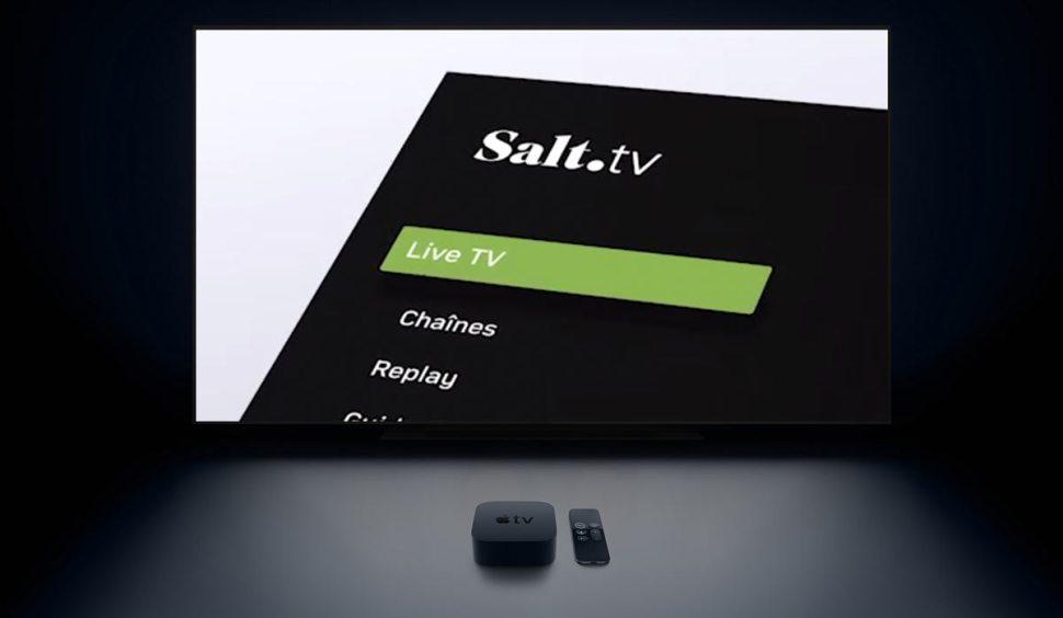 Salt TV pour zapper très vite d'une chaîne à l'autre.