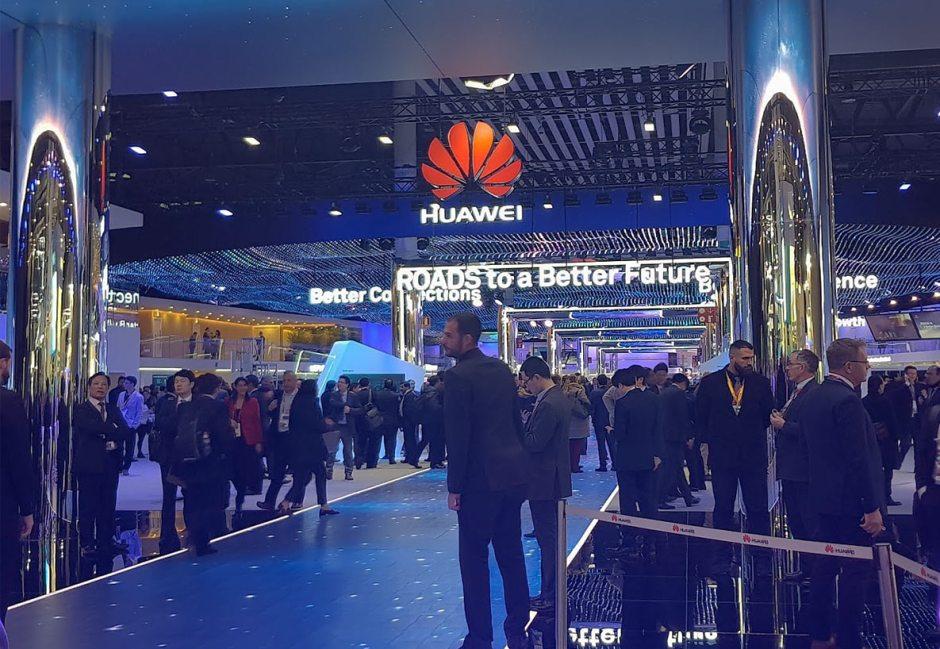 Le stand de Huawei au MWC 2018 de Barcelone.
