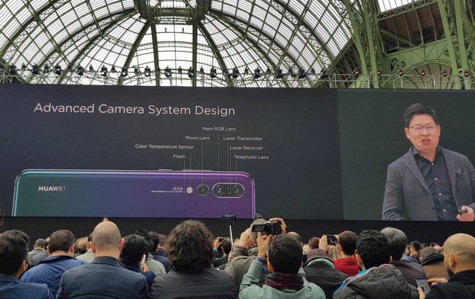 Huawei P20 Pro: trois caméras, dont l'une de 40 millions de pixels...