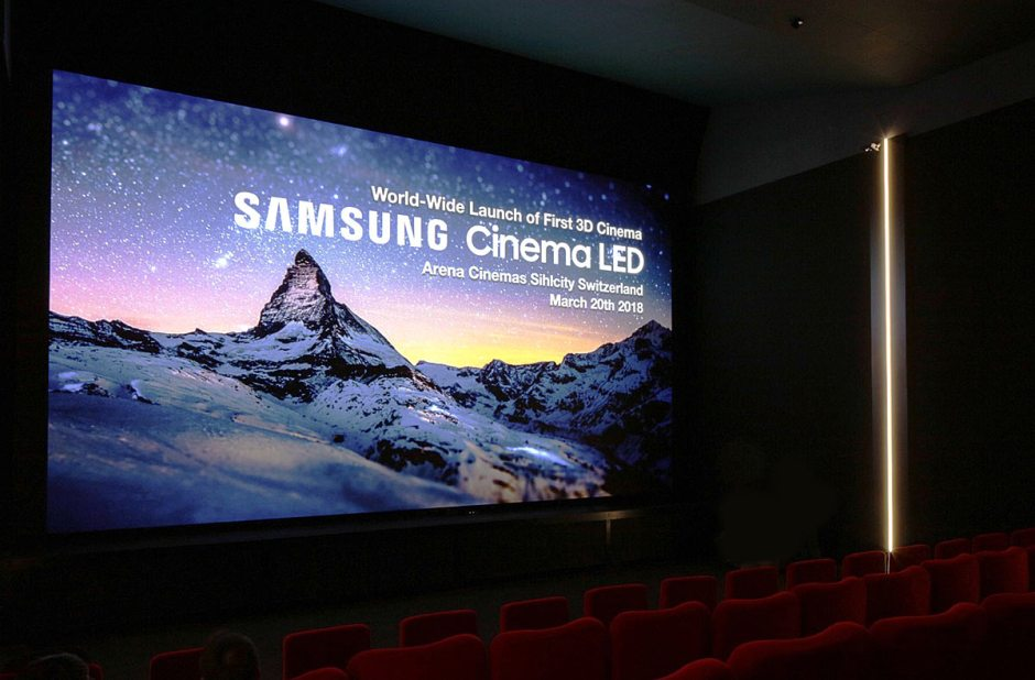 Avec ses 9 millions de LED pixels, le Cinema LED Screen 3D de Samsung débarque en première mondiale à Zurich.