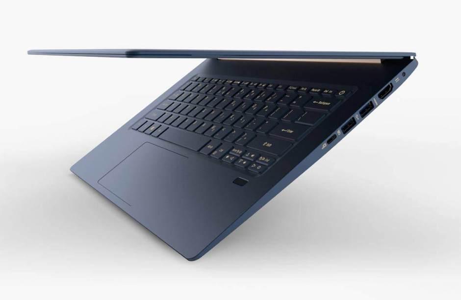 L'Acer Swift 5 tsté avec un Intel Core i7 de huitième génération et 16Go de mémoire vive.