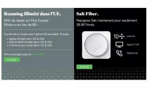 Internet à 10 Giga: Salt rode quelque peu ses processus. Et adapte son roaming…