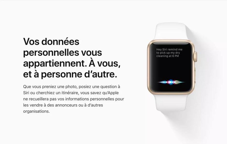 Protection des données: Apple adapte ses outils sur internet.