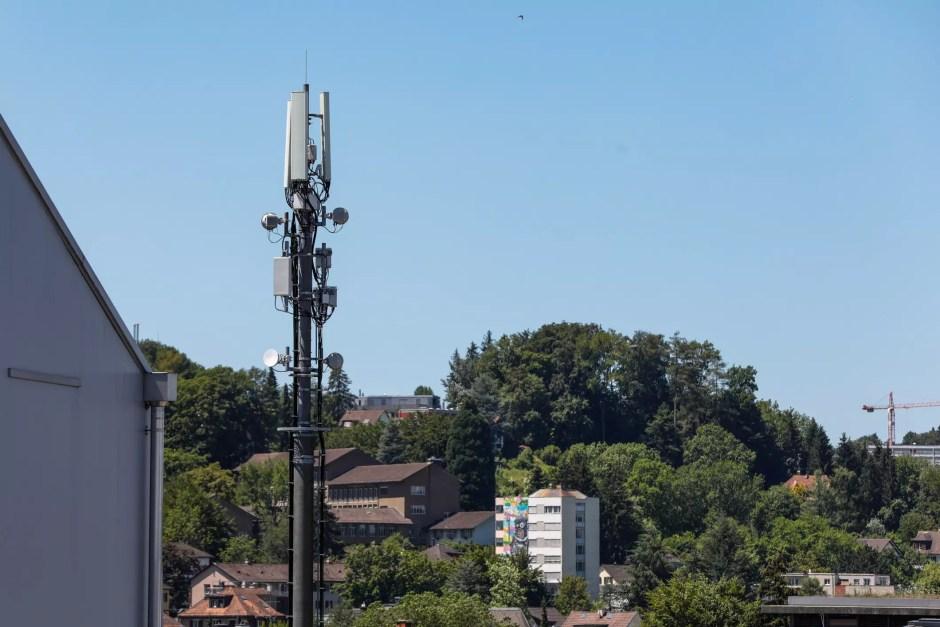 La première antennes 5G de Sunrise en Suisse à Oerlikon.
