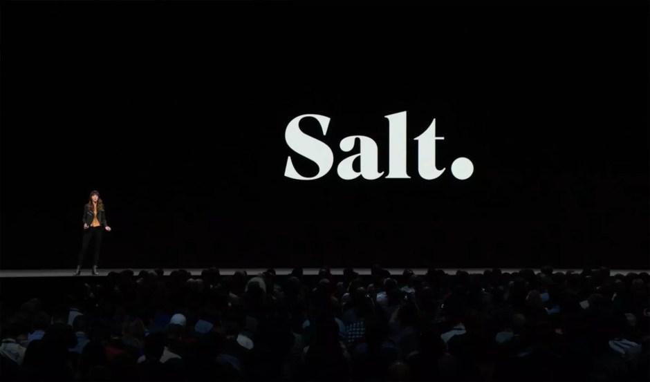 Apple offre à Salt TV une publicité mondiale pour souligne la qualité de cette offre haut-de-gamme.