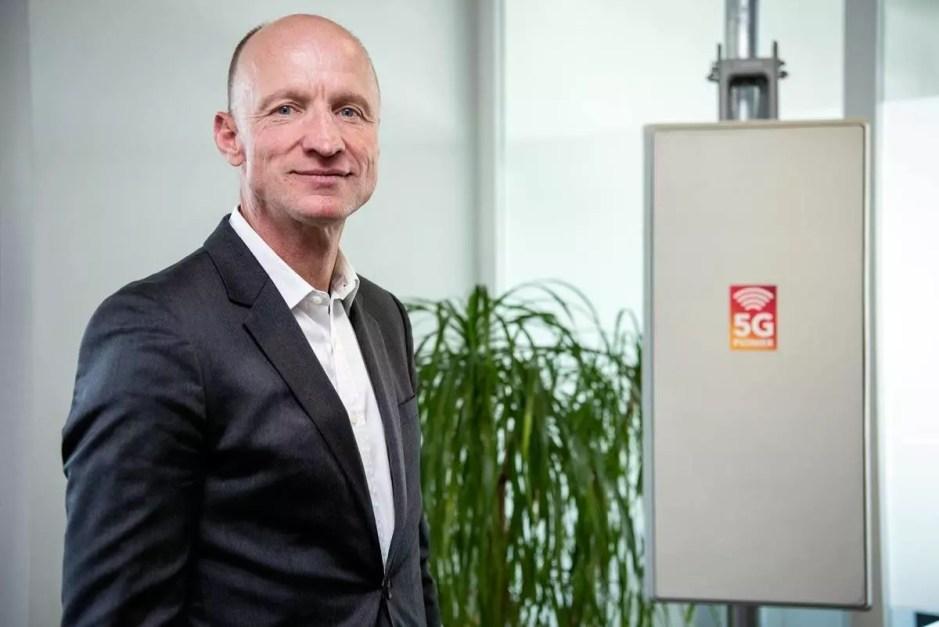 Olaf Swantee, CEO de Sunrise, fier de lancer son programme 5G.