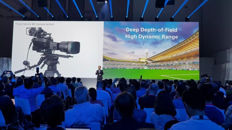 Sony, fournisseur de produits pro, et notamment de caméras 8K.