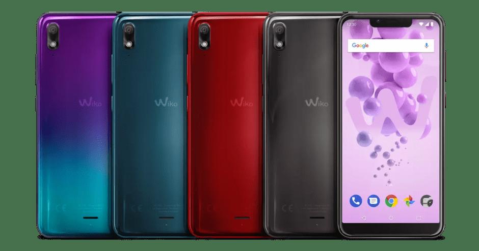Les différentes coloris de la série Wiko View 2 Go.