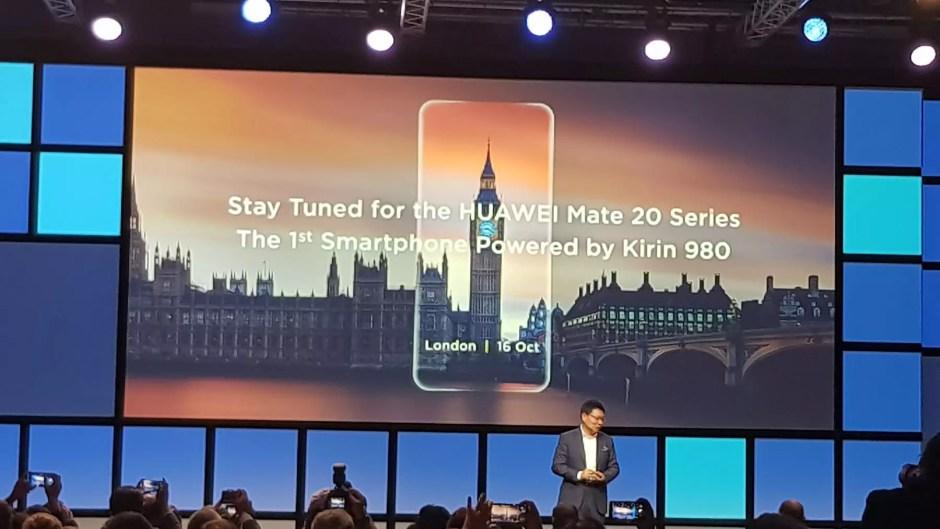 La série Huawei Mate 20 sera dévoilée à Londres le 16 octobre...