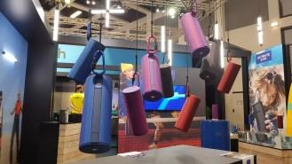 IFA 2018 de Berlin: les UE Boom 3 sur le stand de Logitech.