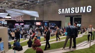 IFA 2018 de Berlin: le gigantesque stand de Samsung dans le Cube.