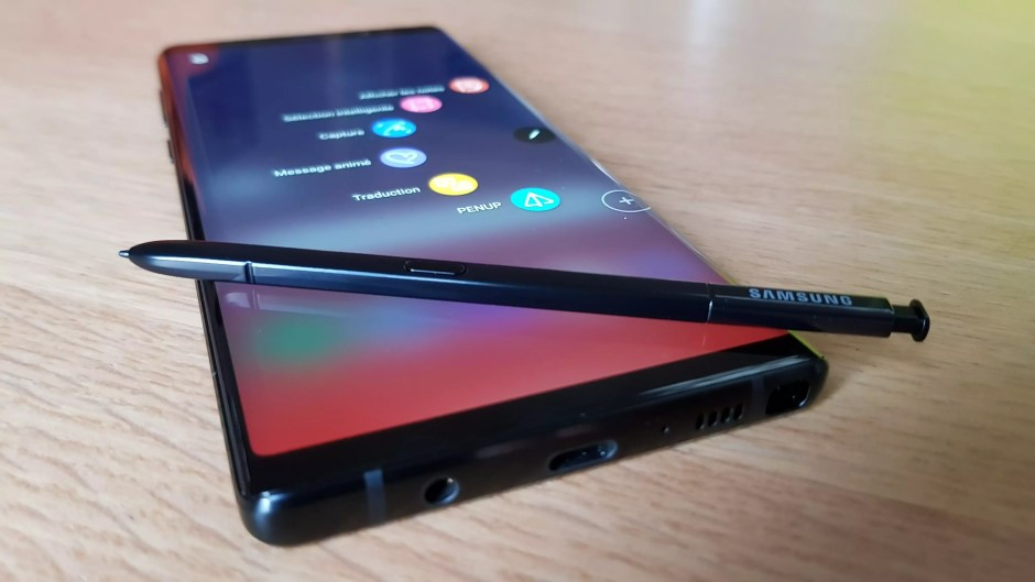 Le Samsung Galaxy Note 9 au sommet.