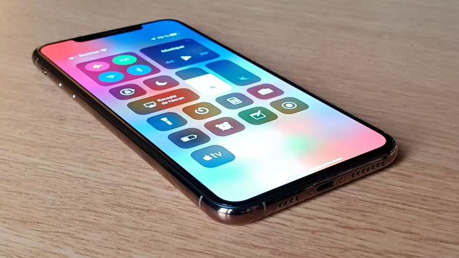 L'écran OLED de l'iPhone Xs Max.