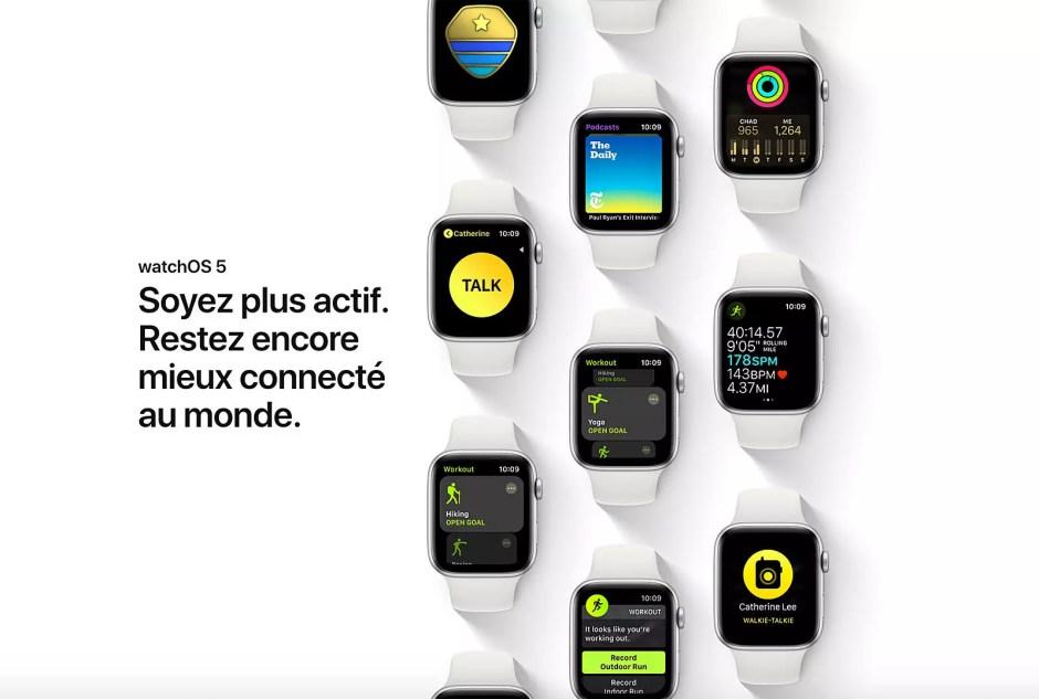 Avec WatchOS 5, Apple élève l'horlogerie intelligente à un niveau jamais atteint!
