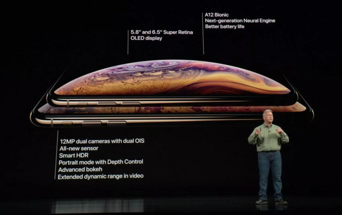Les nouveaux iPhone Xs et iPhone Xs Max.