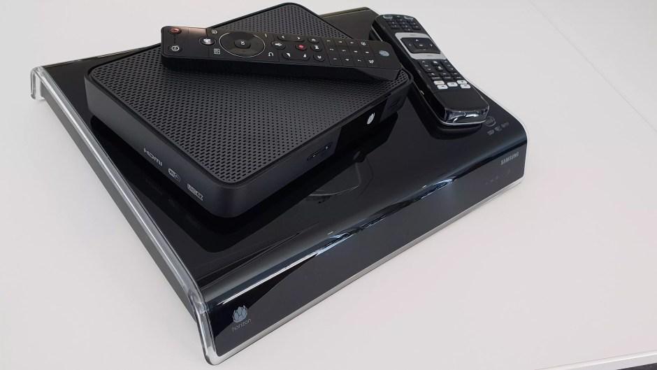 Après le décodeur/modem-routeur Horizon (en dessous), voici le décodeur UPC TV Box, 4K et HDR.