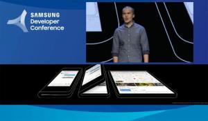 Samsung présente son smartphone à écran pliable avec Google!