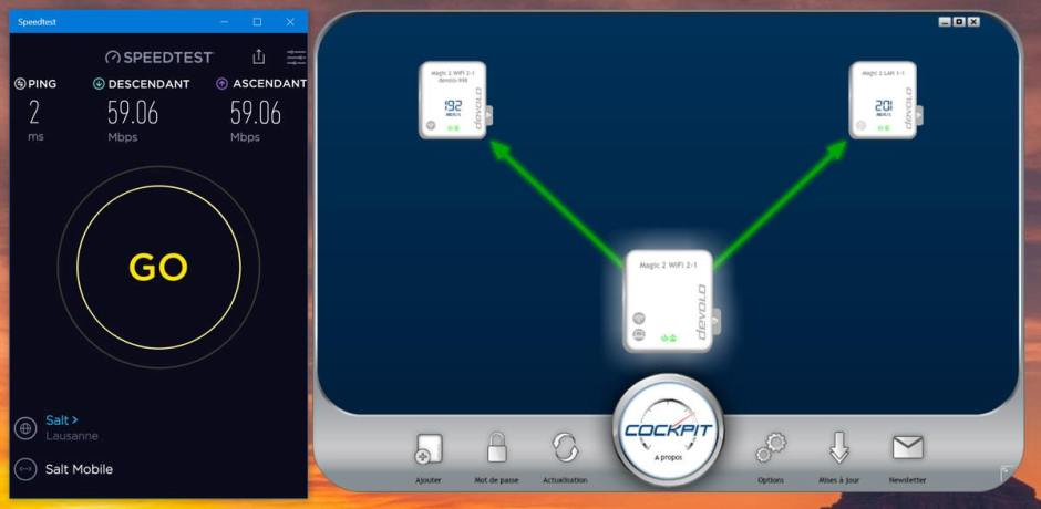 Devolo Magic 2: le test du débit réel.