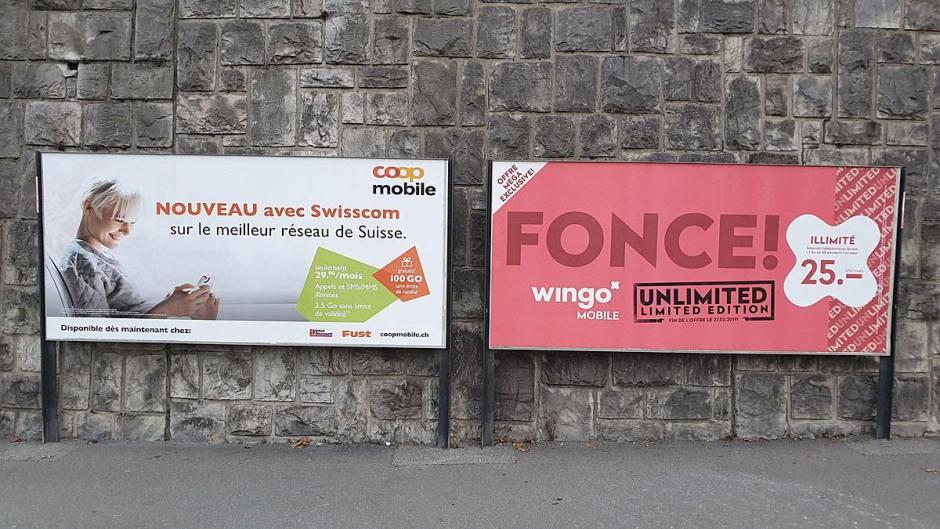 CoopMobile et Wingo sur le réseau mobile de Swisscom.
