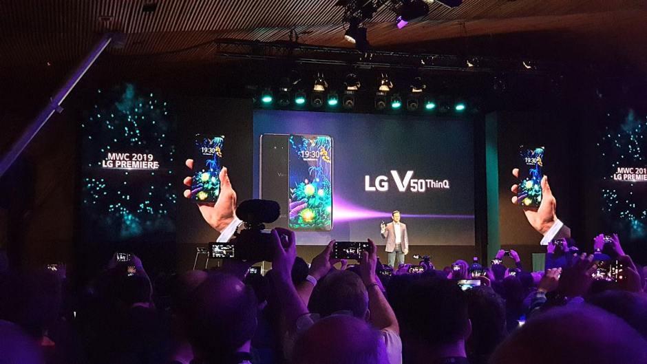 Le LG V50 Think, compatible 5G grâce à Qualcomm.
