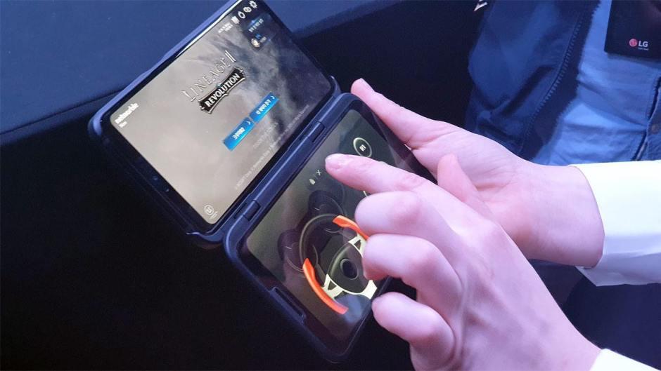 La version à deux écrans du LG V50 5G.