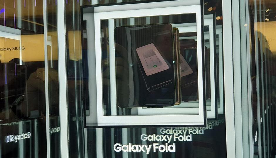 Samsung Galaxy Fold: inatteignable... Très difficile à photographier.