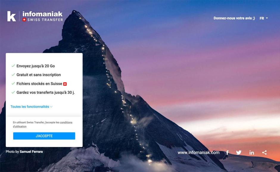 Swiss Transfer pour concurrencer WeTransfer.