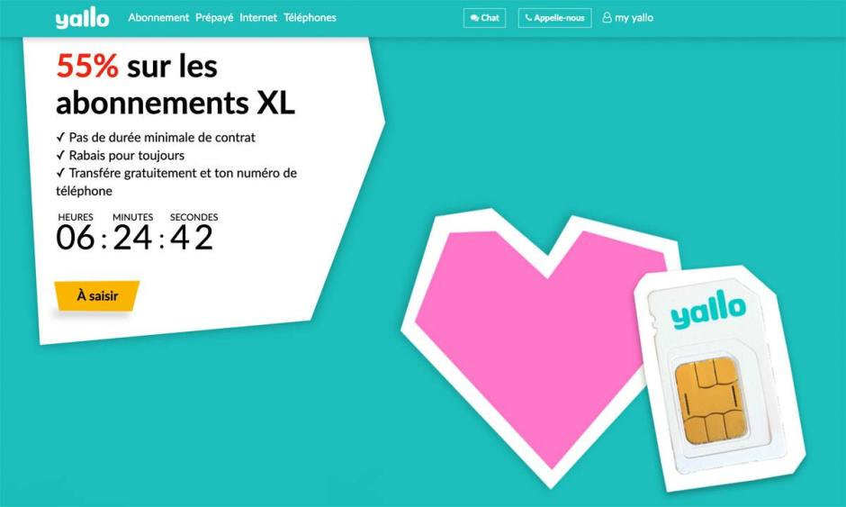 "Yallo brade ses ""plans roaming"" pour la Saint-Valentin. Un cadeau en or!"