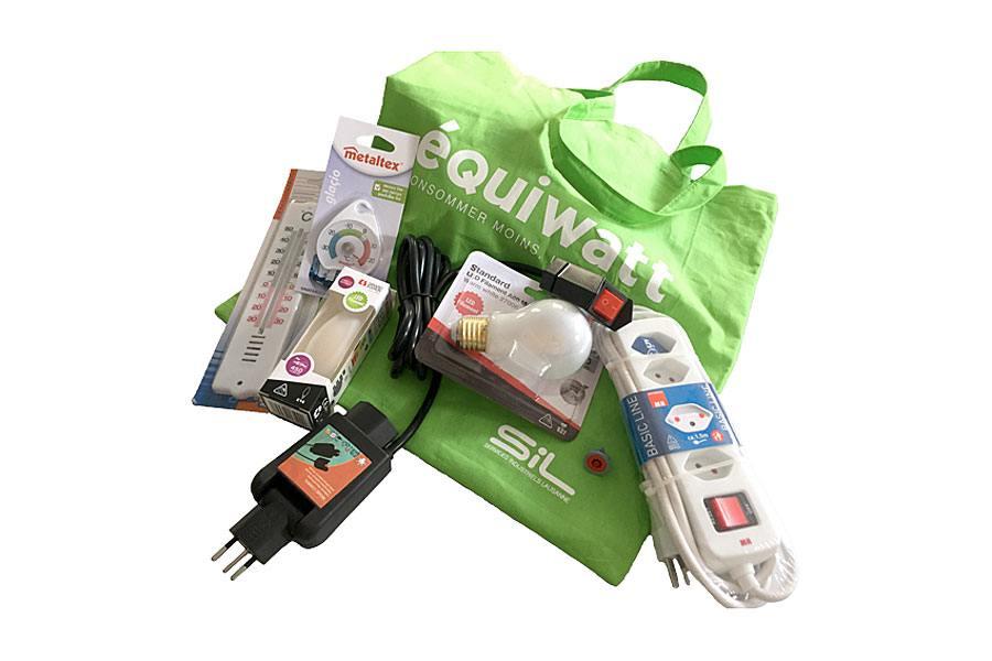 Le kit Equiwatt d'une valeur de 50 francs est vendu au prix de 10 francs à Lausanne.