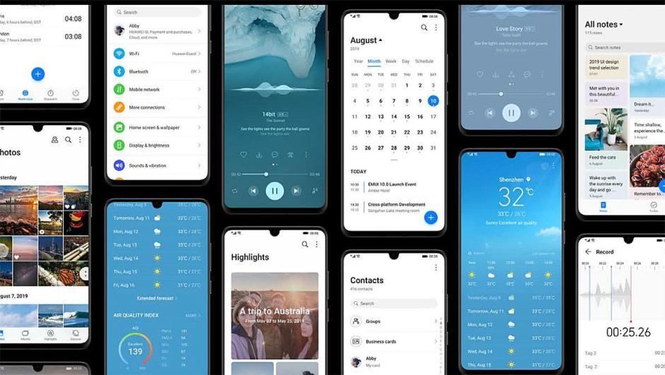 EMUI 10 de Huawei sur Android 10 en bêta.