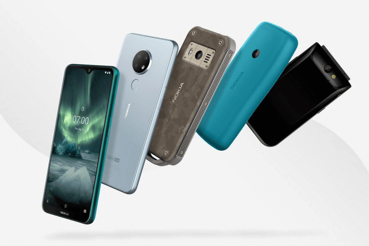 Nokia a mis en scène une série de cinq téléphones à l'IFA 2019 de Berlin.