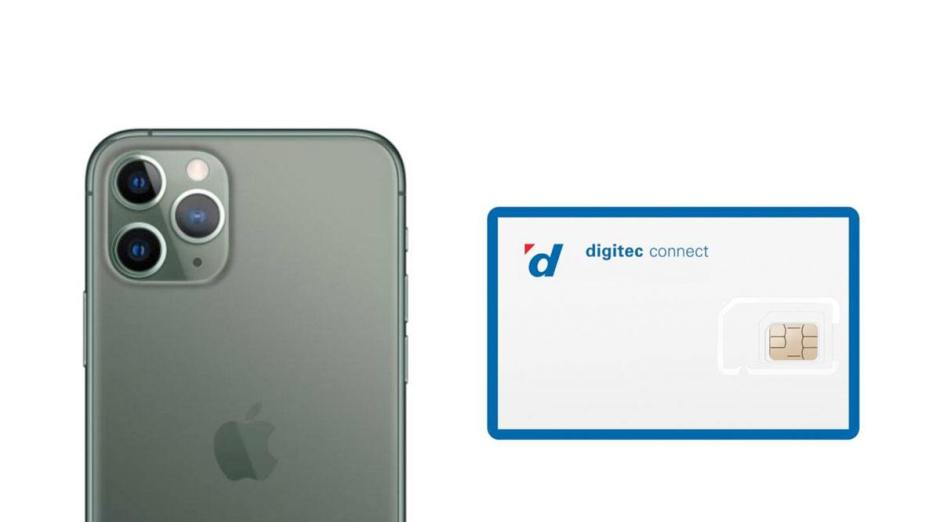 Digitec Connect et l'iPhone 11.