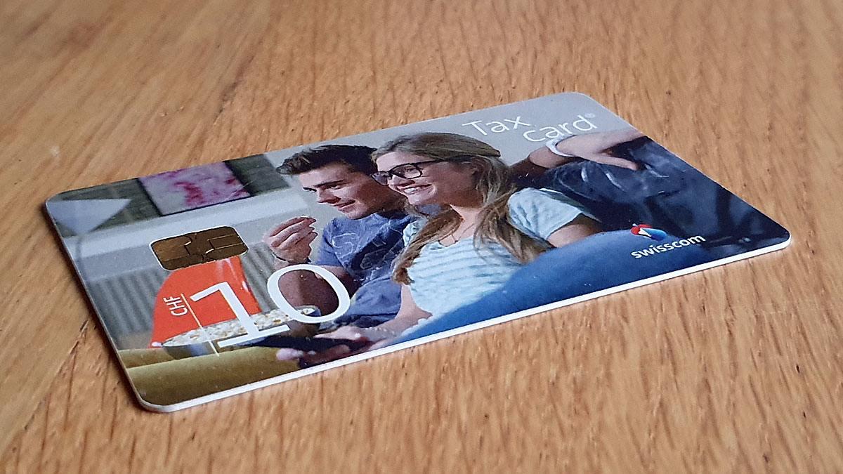 La Taxcard de Swisscom désormais obsolète.